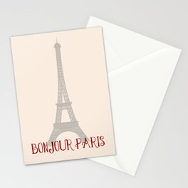 Bonjour Paris Stationery Cards
