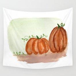 Fall Pumpkins Wall Tapestry