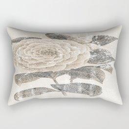 Vintage Camellia Rectangular Pillow