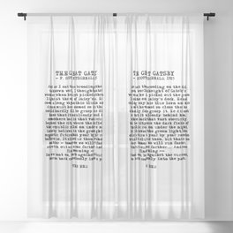 Ending of The Great Gatsby - Fitzgerald quote Sheer Curtain