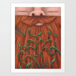 Rip Van Winkle with Vines Art Print