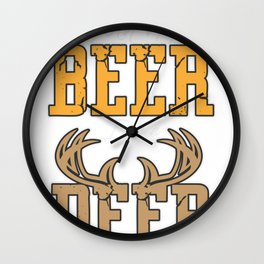 Hold my Beer I see a Deer Wall Clock