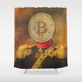 "Bit Coin Fanatic General | ""So Let Me Tell You About My Coin Base"" Shower Curtain"