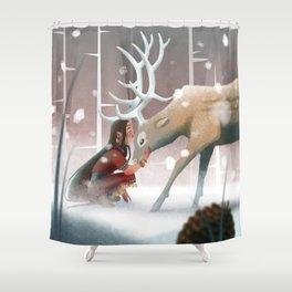 Soft winter Shower Curtain