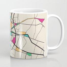 Colorful City Maps: Bangkok, Thailand Coffee Mug