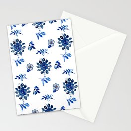 Blue Spanish Florals Stationery Cards