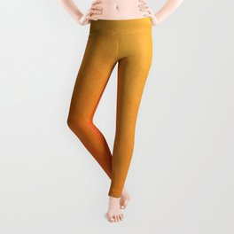 Shades of Sun - Line Gradient Pattern between Light Orange and Pale Orange Leggings