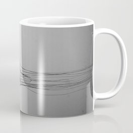 Black and White Jellyfish Art Photography, Drifting Through Time and Space Coffee Mug