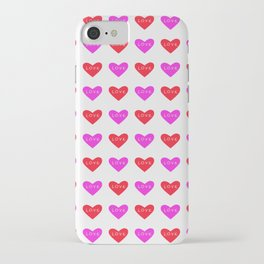 Love and love and more love white iPhone Case