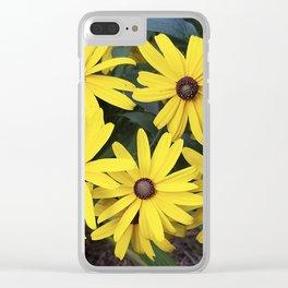 Garden Gold - Rudbeckia Clear iPhone Case