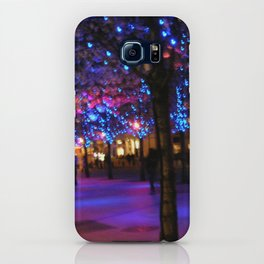Blue Glowing Trees iPhone Case