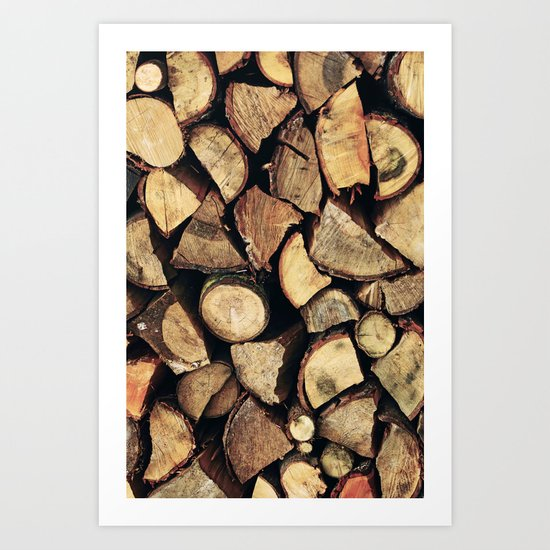 Fire Wood Art Print