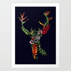 Tropical Deer Art Print