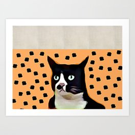Khaki Cat Art Print