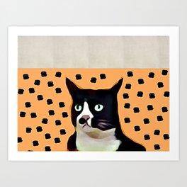 Khaki Cat Art Print