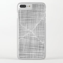 Ink Weaves: White Alabaster Clear iPhone Case