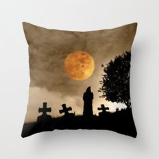The old graveyard Throw Pillow