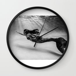 Mermaid Among Us (up) Wall Clock