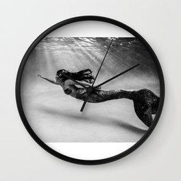 Mermaid Among Us (up) Wall Clock