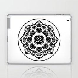 Black and White Mandala   Flower Mandhala Laptop & iPad Skin