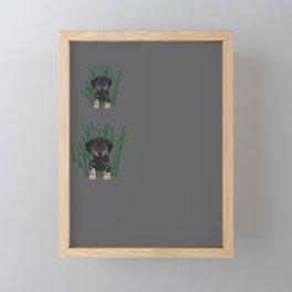 Sausage Dog Design Framed Mini Art Print