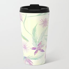 water colour pink palm Metal Travel Mug