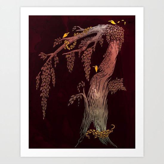 Tree Birds Art Print