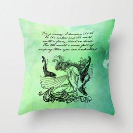 William Butler Yeats - The Stolen Child Throw Pillow
