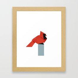 Origami Cardinal Framed Art Print