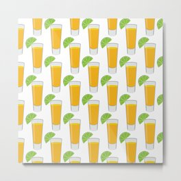 Tequila Shot Pattern Metal Print
