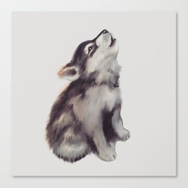 Husky Love Canvas Print