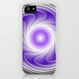 The Power Of Purple, Modern Fractal Art Graphic iPhone Case