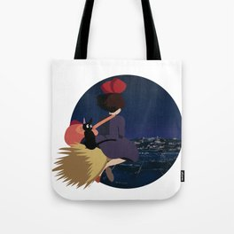 Witch at Night Tote Bag