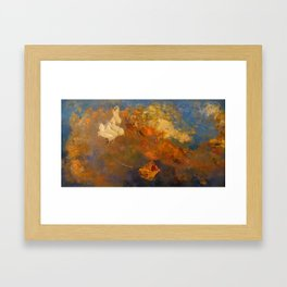 "Odilon Redon ""Apollo's Chariot"" Framed Art Print"