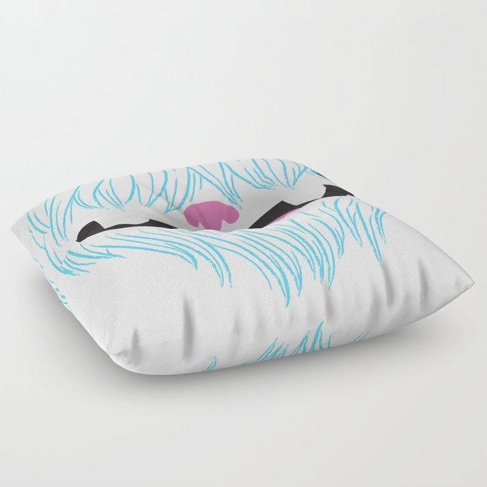Happy Yeti Floor Pillow