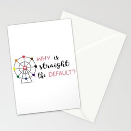 why is straight the default Stationery Cards