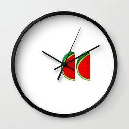 Summer Sweet Summer Tropical Vibes Fruit Wall Clock