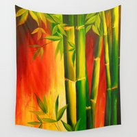 bamboo Wall Tapestries featuring Bamboo by OLHADARCHUK