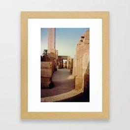 Ruins at the Karnak Temple Complex in Egypt Framed Art Print