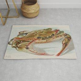 Vintage Illustration of a Crab (1889) Rug