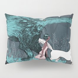 Woman Wolf wandering | magical forest/  Pillow Sham
