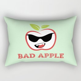 Bad Apple in Black Sunglasses with Attitude Rectangular Pillow