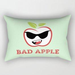 Bad Apple in Black Sunglasses with Attitude Rectangular Pillow