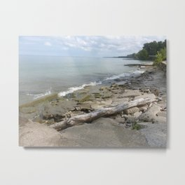 Lake Erie Shoreline Metal Print