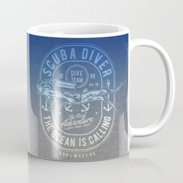 The Ocean Is Calling And I must Go Scuba Diving Coffee Mug
