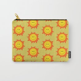 Happy Cartoon Sun Pattern Carry-All Pouch