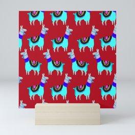 Red Lama Mini Art Print