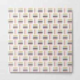 AFE Modern Basket Weave Metal Print