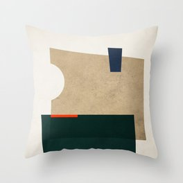 Textured Shapes 11 Throw Pillow