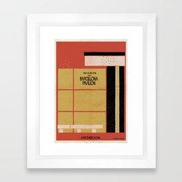 Barcelona-Pavilion Framed Art Print